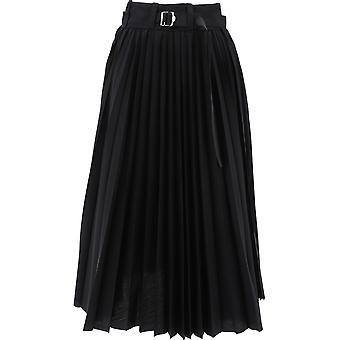 Sacai 20048871 Women's Black Polyester Skirt
