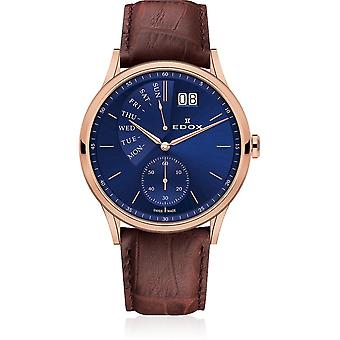 Edox - Wristwatch - Men - Les Vauberts - Date Retrograde - 34500 37R BUIR