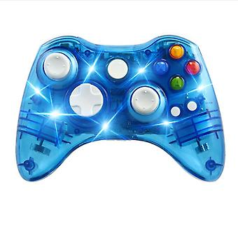 Draadloze bediening Xbox 360 - 7 knipperende LED - transparant blauw