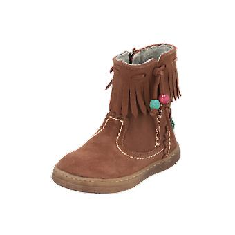 El Naturalista E057 LUX SUEDE Kids Girls Boots Brown Lace-up Boots