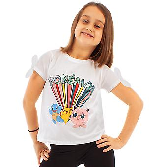 Pokemon Pikachu and Characters Girl's T-shirt