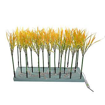 Jandei Set Lampa roślina dekoracyjna pszenica 20 łodyg żółty 3000K