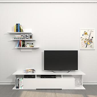Mobiele tv-deur Bounty Kleur Wit in Melaminic Chip 170x32x36 cm, 72x15x60 cm