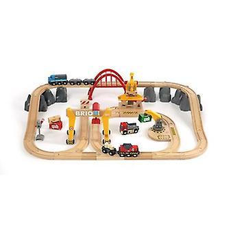 BRIO Cargo Railway Deluxe Set 33097 54 Piece Wooden Railway Set - Great Value