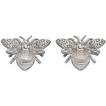 Elements Boucles d'oreilles d'abeille d'or - Or blanc