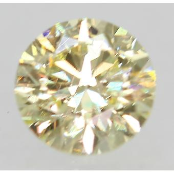 Certified 0.28 Carat M VS1 Round Brilliant Enhanced Natural Loose Diamond 4.07mm