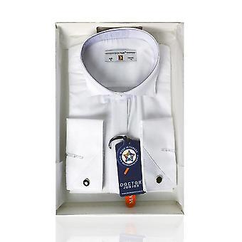 Jongens Premium Wing kraag wit Cufflink Shirt