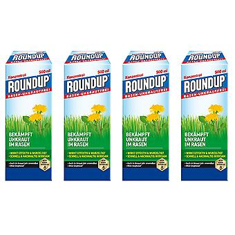 Sparset: 4 x ROUNDUP® Lawn Weed-Free, 500 ml