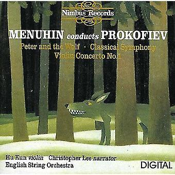 S. Prokofiev - Menuhin bedriver Prokofiev: Peter och vargen; Klassisk symfoni; Violin Concerto nr 1 [CD] USA import