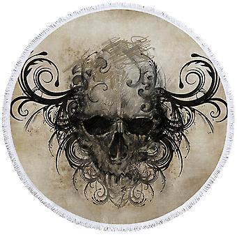 Scary Skull tegning Beach håndkle