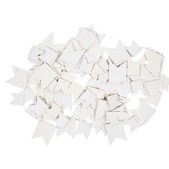 Mini White Paper Garland Pennant Bunting for Adults Crafts - 2.7m