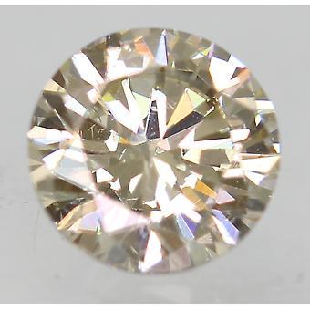 Certified 0.50 Carat M VVS2 Round Brilliant Enhanced Natural Loose Diamond 5mm