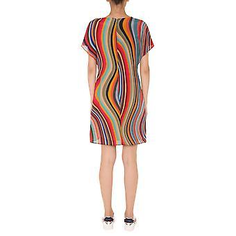 Ps By Paul Smith W2r392de3042590 Women's Multicolor Silk Dress
