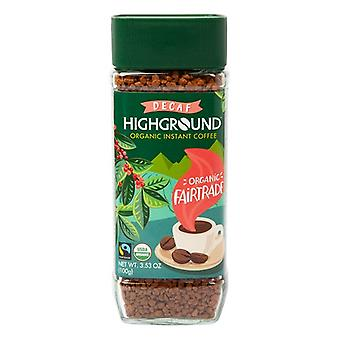 Highground Instant Coffee Decaf Organic Fairtrade