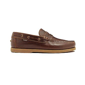 Loake Plymouth Brown Waxy Leather Mens Loafer Deck Shoes