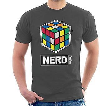 Rubik's Cube Cut Out Nerd Men's T-Shirt