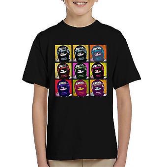 Motorsport Images Damon Hill Portuguese GP Helmet Pop Art Kid's T-Shirt