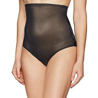 Marca - Arabella Women's suavizando ropa de forma breve de cintura alta con control de barriga, negro, medio