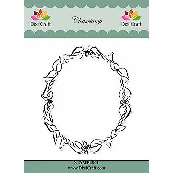 Dixi Craft Flower Frame Clear Stamp