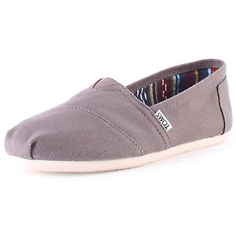 Toms Classic Mens Slip On Shoes in Grey