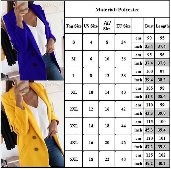 Womens Plus Size Wool Long Winter Outwear Trench Coat