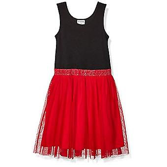 Brand - Spotted Zebra Girl's Tutu Tank Dress, Black/Red, X-Large (12)