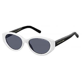 Sonnenbrille Damen    oval schwarz/weiß/grau
