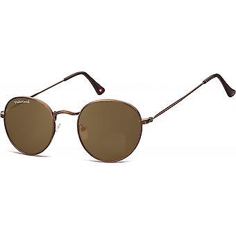 Solglasögon Unisex rundbrun MP92F-XL