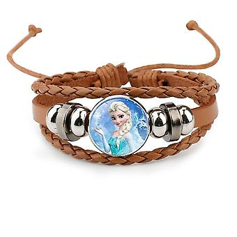 Disney Make Up, Joias, Frozen 2- Elsa Anna Princess Cartoon Cowhide Bracelet