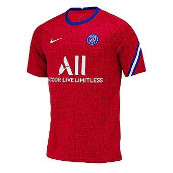 2020-2021 PSG Nike Pre-Match Training Shirt (Red)