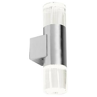 Endon Grant - 2 Lumière extérieure Lumière Extérieure En acier inoxydable poli avec cristal IP44