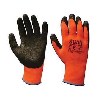 Scan Thermische Latex Gecoate Handschoen Maat 9 (L) (Pack van 5) SCAGLOKSTH5