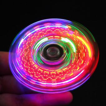 Creative Led Light, Luminous Fidget Spinner With Different Pattern-