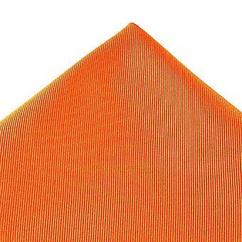 Ties Planet Plain Orange Silk Pocket Square Handkerchief