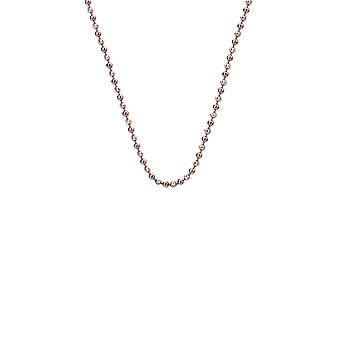"""Emozioni 24"""" Sterling Silver Rose Gold Plated Accent Bead Chain CH056 Emozioni 24 """" Sterling Silver Rose Gold Plated Accent Bead Chain CH056"""