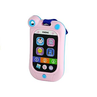 Toy phone pink with lights & animal sounds