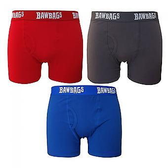 Bawbags الأصليين 3PK اللون كتلة الملاكم السراويل - متعددة