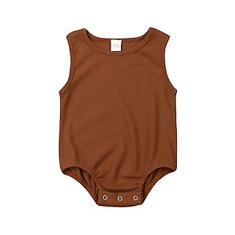 Newborn Kid Baby Girl Boys - Solid Jumpsuit Casual Sleeveless Outfit