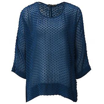 Grizas Silk & Cotton Textured Dot Top
