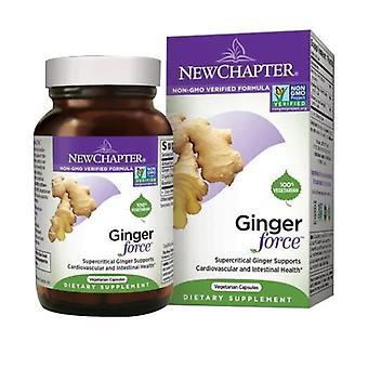 New Chapter Ginger Force, 60 Capsules de légumes liquides