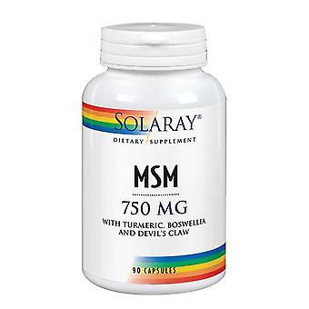 Solaray MSM, 750 mg, 90 Kapseln