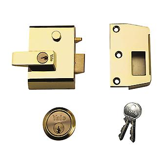 Yale YALP2B P2 Double Security Nightlatch Brasslux Finish 40mm Backset Visi