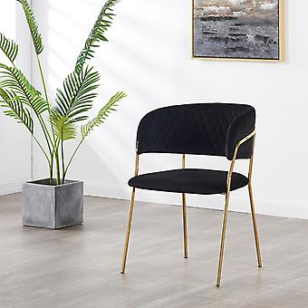 Pierre Lux Velvet Dining Chair Schwarz