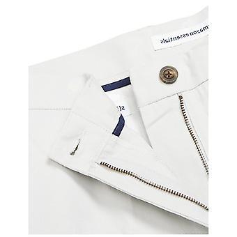 Essentials Men's pantalón chino de frente plana resistente a las arrugas de ajuste delgado, plata, 34W x 32L