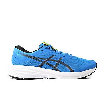 Asics Patriot 12 GS Directoire Blue/Black Mesh Womens Lace Up Running Trainers