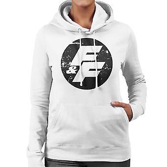 Schnelle und wütende FF Vintage Logo Frauen's Kapuzen Sweatshirt