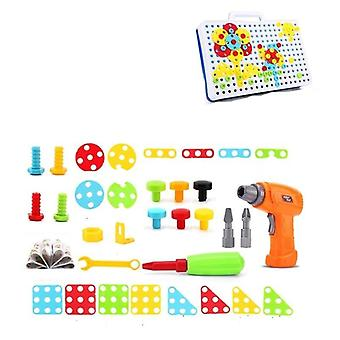 Kids Drill Screw Nut Puzzle, Pretend Play Tool Drill Disassembly Assembly Toy