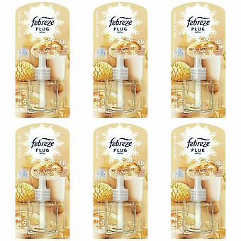 Ambi Pur Plug In Diffuser Vanilla Latte Refill Air Freshener, Pack Of 6, 20ml