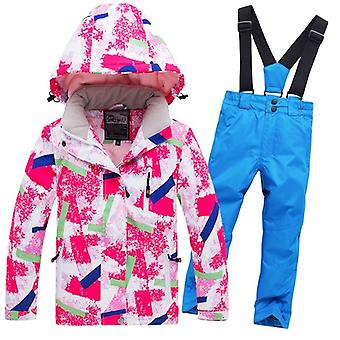 Boys/girls Waterproof Pants+jacket Set, Winter Sports Thickened Clothes's Ski