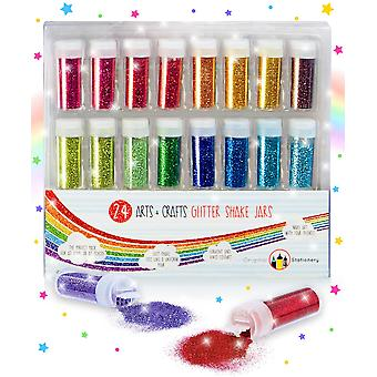 Original stationery glitter set - extra fine slime making supplies for crafts & arts - ideal for fac